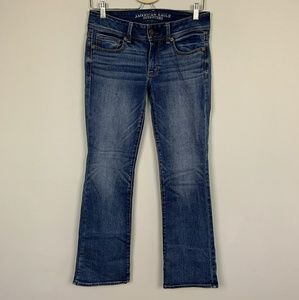 AEO Jean Kick Boot Blue Sz: 6